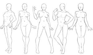 Pose Set 1 Standing Poses By Anadia Chan On Deviantart