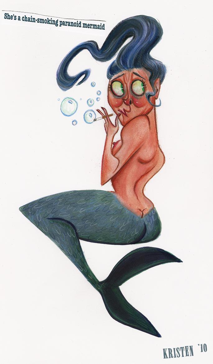 Paranoid Mermaid by shmisten
