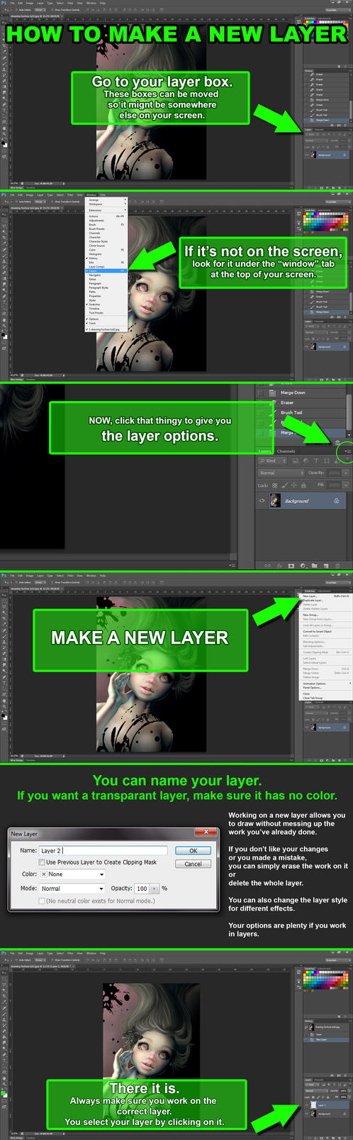 How to make a new layer by dreamarian
