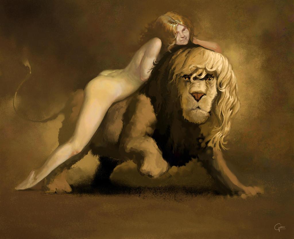 lioness by gorec