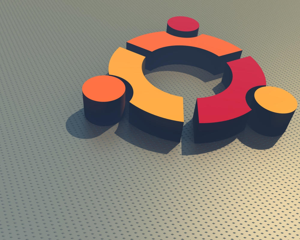 3D Ubuntu Logo Wallpaper by kotakotakota on DeviantArt