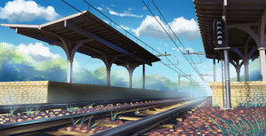 Train Station by Badriel