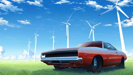 Wind turbines by Badriel