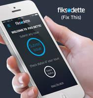 Fiks Dette (Fix This) Mobile App by SagarImran