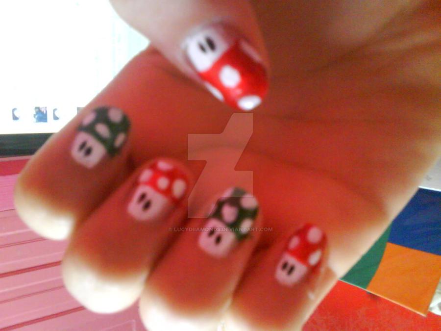 Mario Bros Nails by lucydiiamonds on DeviantArt