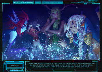 AA: Starship Alva AU: Bioluminescence by KiyokoAmaya