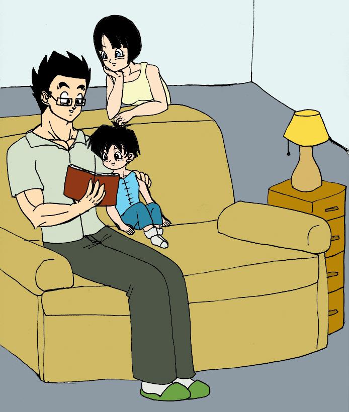 Family Reading by SweetestIrony