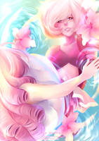 [SpeedPaint] A Single Pale Rose (Steven Universe) by Iydimm