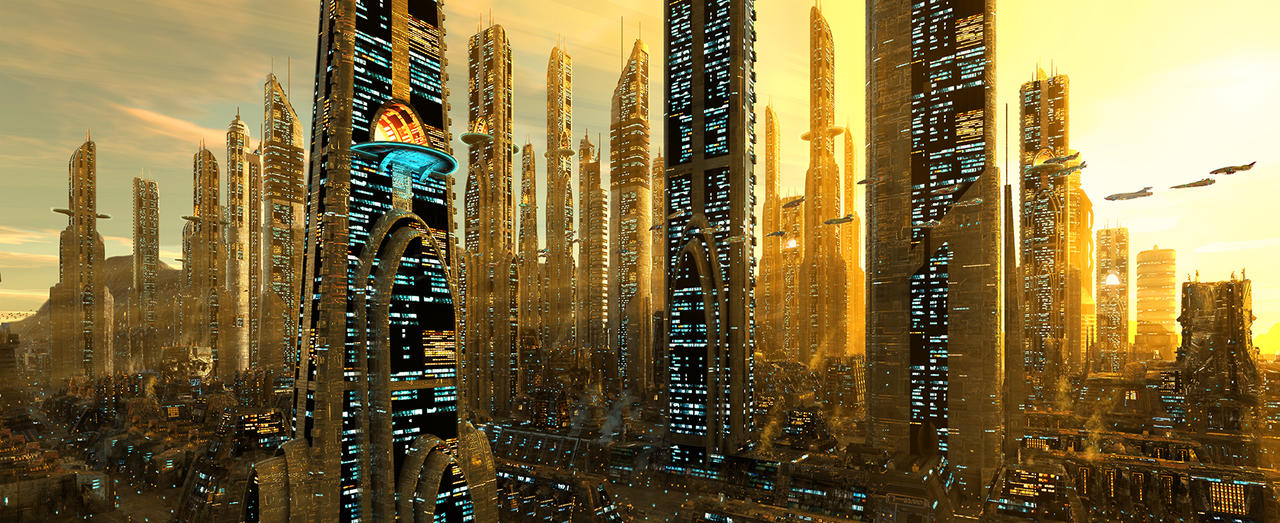 Futuristic City by digital-pat