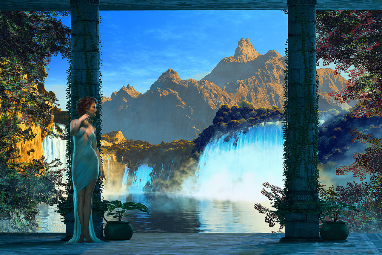 Waterfall Retreat by digital-pat