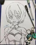 Sayaka Inked by Sapphire--Kitty