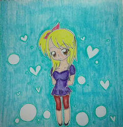chibi Lucy by Sapphire--Kitty