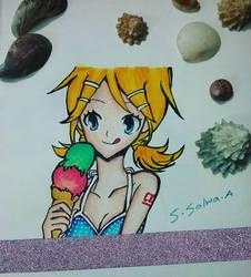 Beach Rin by Sapphire--Kitty