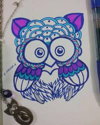 Little Owl by Sapphire--Kitty