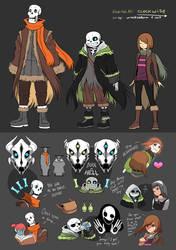 Clockwise UT AU: Main Characters by OracleSaturn
