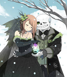 Clockwise Winter Wedding by OracleSaturn