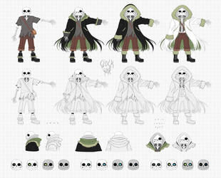 CW Sans: Character Reference Sheet by OracleSaturn
