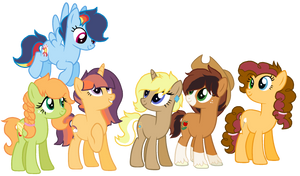 NG: Daughters of the Mane Six by zafara1222
