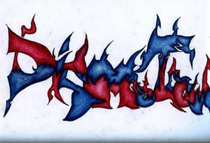 Graffiti 'DISMOTRON'