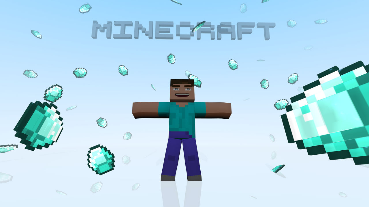 Minecraft Hd Wallpaper Diamonds By Roaraku On Deviantart