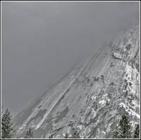 rock and snowstorm