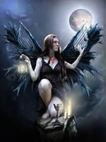 The Night Keeper by IdaLarsenArt