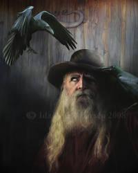 Odin by IdaLarsenArt
