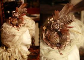 Golden Steampunk Fascinator