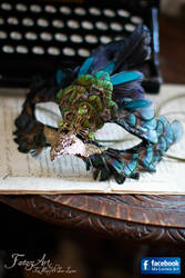 Steampunk Bird Mask Dark Version