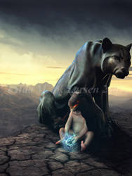The Child Shaman by IdaLarsenArt