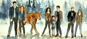The Cullens_Watercolour Sketch