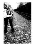 kiss by the train by mandyy123