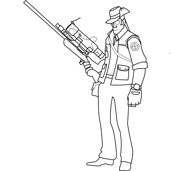 Scout sniper soldier coloring pages for Ro draw