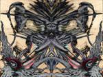 Alien figure abstract