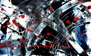 UNTITLED ABSTRACT PAINTING by WeirdDarkness