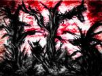 Hellish Abstract Landscape