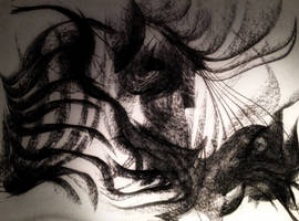 Dark Charcoal Abstract by WeirdDarkness