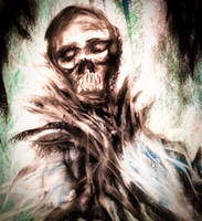 SKULL FACE ABSTRACT by WeirdDarkness