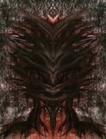 Abstract Alien Face 1 by WeirdDarkness