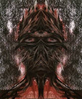 Abstract Alien Face 2 by WeirdDarkness