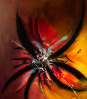 DRAMATIC ACRYLIC ABSTRACT by WeirdDarkness