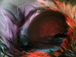 THE CAVE--PASTEL ABSTRACT by WeirdDarkness