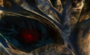 GLOWING EYE CLOSE-UP by WeirdDarkness