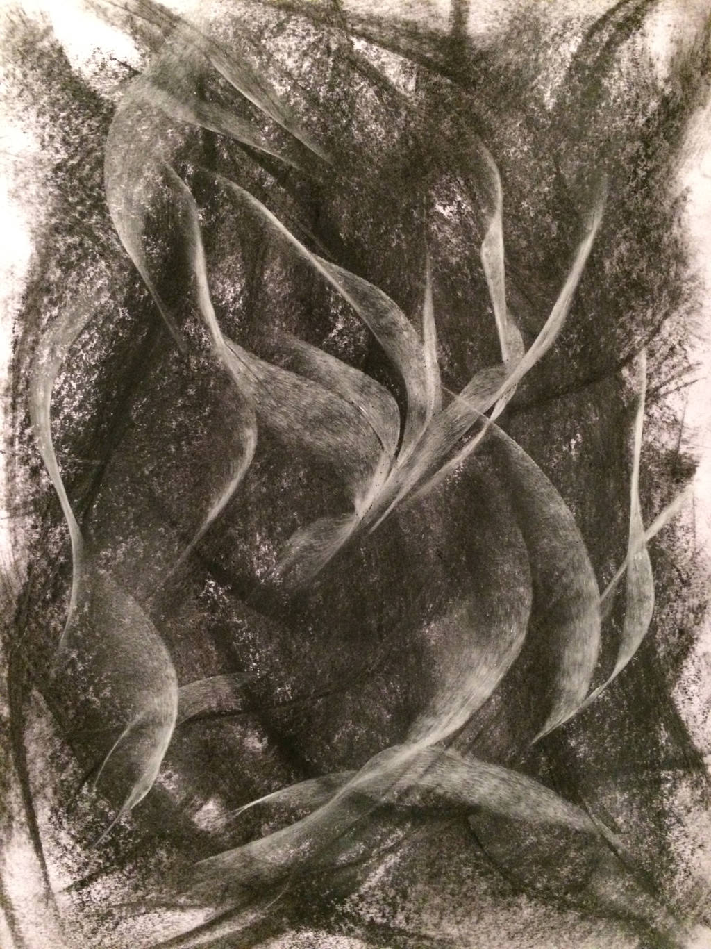 CHARCOAL AND PASTEL ABSTRACT by WeirdDarkness