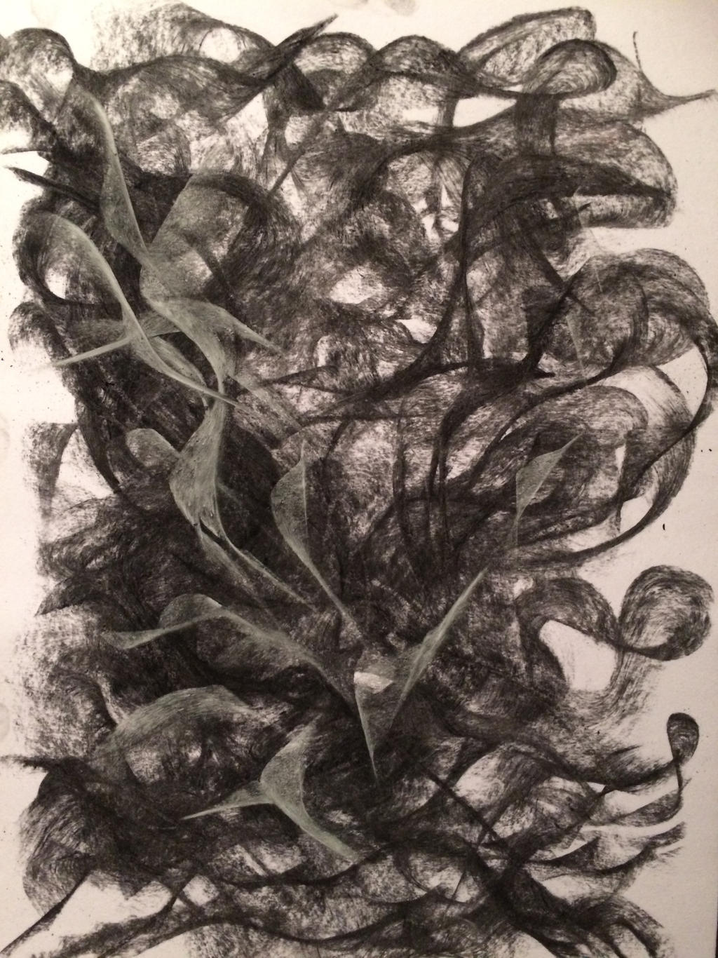 CHARCOAL AND PASTEL ABSTRACT 2 by WeirdDarkness