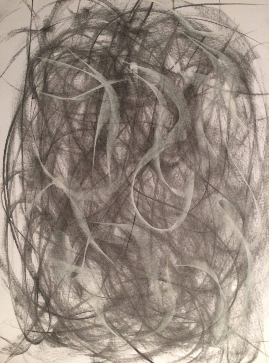 CHARCOAL AND PASTEL ABSTRACT 3 by WeirdDarkness