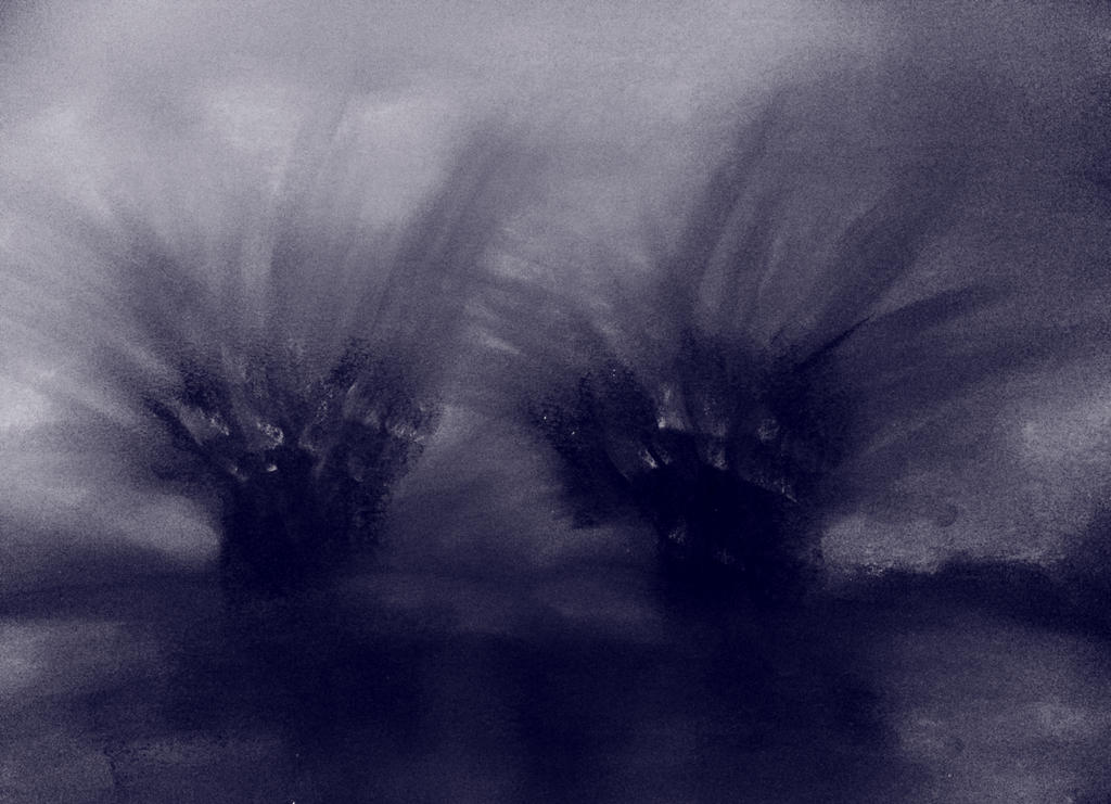 DARK ABSTRACT LANDSCAPE by WeirdDarkness