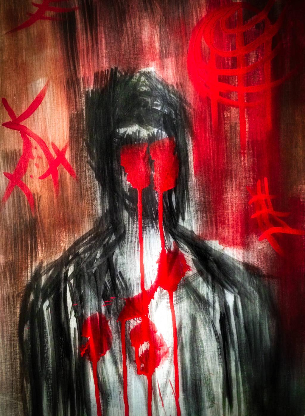 SPLASH OF RED by WeirdDarkness