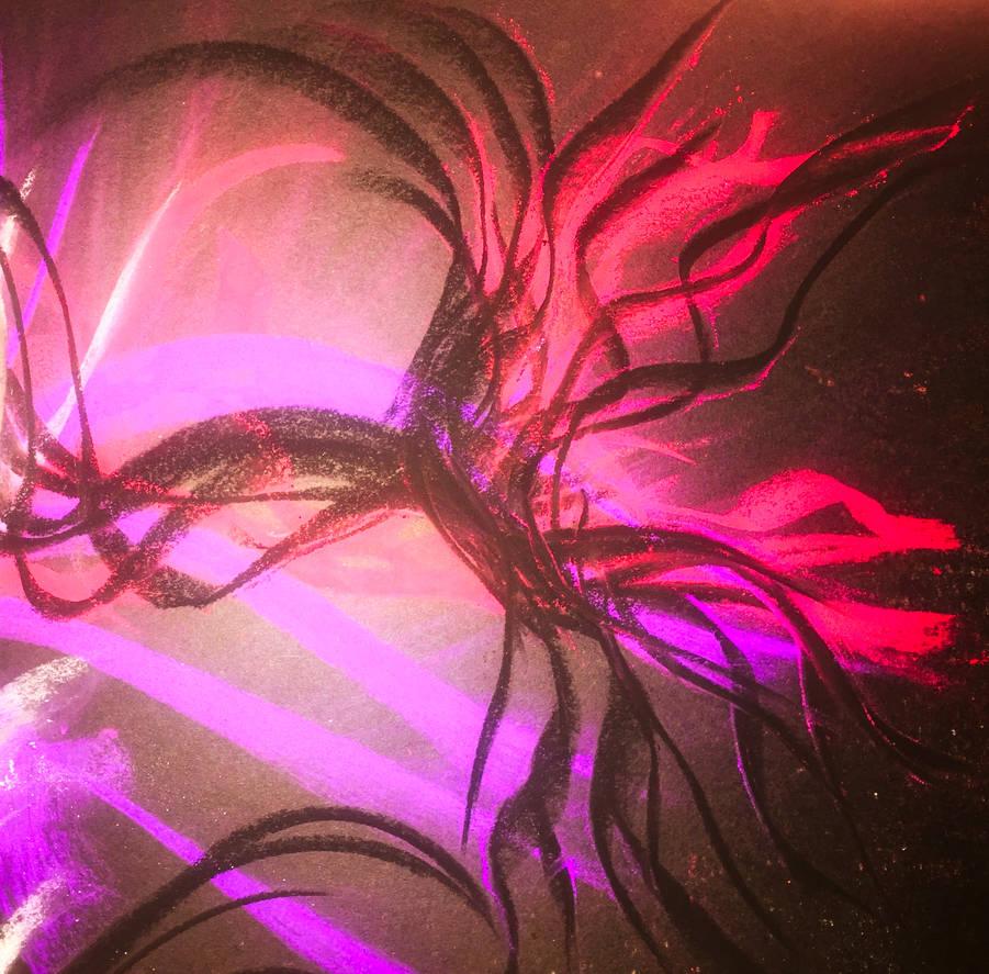 Dark Neon Abstract by WeirdDarkness