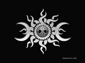 Druid Symbol Design Gray